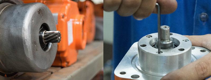 Manutenção mecânica de robôs